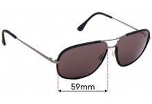 Sunglass Fix Sunglass Replacement Lenses for Chanel 4162-Q - 59mm Wide