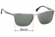Sunglass Fix Sunglass Replacement Lenses for Chilli Beans - 55mm Wide x 41mm High