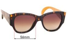 Sunglass Fix Sunglass Replacement Lenses for Christian Lacroix 7330 - 56mm Wide