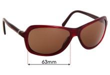 Sunglass Fix Sunglass Replacement Lenses for Donna Karan DK1002 - 63mm Wide