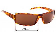 Sunglass Fix Sunglass Replacement Lenses for Electric EC/DC - 63mm Wide