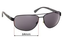 Sunglass Fix Sunglass Replacement Lenses for Emporio Armani EA2036 - 64mm Wide