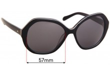 Sunglass Fix Sunglass Replacement Lenses for Fossil FOS 2031/S - 57mm Wide