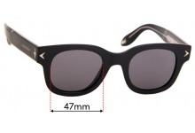 Sunglass Fix Sunglass Replacement Lenses for Givenchy GV 7037/S - 47mm Wide