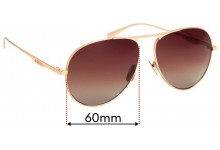 Sunglass Fix Replacement Lenses for Gucci GG 0334/S - 60mm Wide