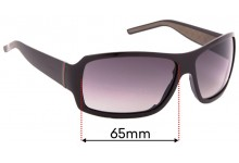 Sunglass Fix Replacement Lenses for Gucci GG1012/S - 65mm Wide