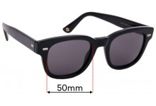 Sunglass Fix Replacement Lenses for Gucci GG1079/S - 50mm Wide