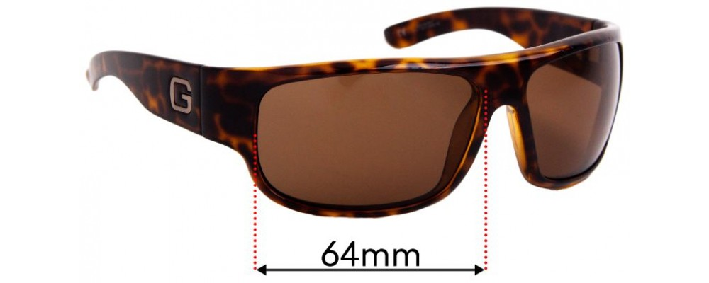 Sunglass Fix Replacement Lenses for Gucci GG1500/S - 64mm Wide