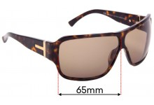 Sunglass Fix Replacement Lenses for Gucci GG1544/S - 65mm Wide