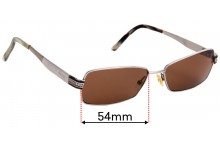 Sunglass Fix Replacement Lenses for Gucci GG2750 - 54mm Wide