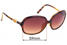 Sunglass Fix Replacement Lenses for Gucci GG3145/F/S - 59mm Wide