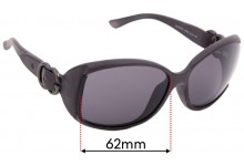 Sunglass Fix Replacement Lenses for Gucci GG3521/F/S - 62mm Wide
