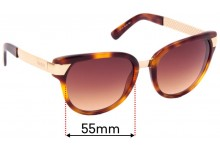 Sunglass Fix Replacement Lenses for Gucci GG3651/S - 55mm Wide