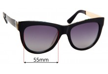 Sunglass Fix Replacement Lenses for Gucci 3739/S  - 55mm Wide