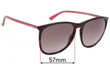 Sunglass Fix Replacement Lenses for Gucci GG3767/S - 57mm Wide