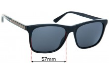 Sunglass Fix Replacement Lenses for Gucci GG0381/S - 57mm Wide