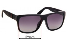 Sunglass Fix Replacement Lenses for Gucci GG1124/F/S - 59mm Wide
