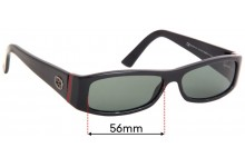Sunglass Fix Replacement Lenses for Gucci GG 2594/S - 56mm Wide