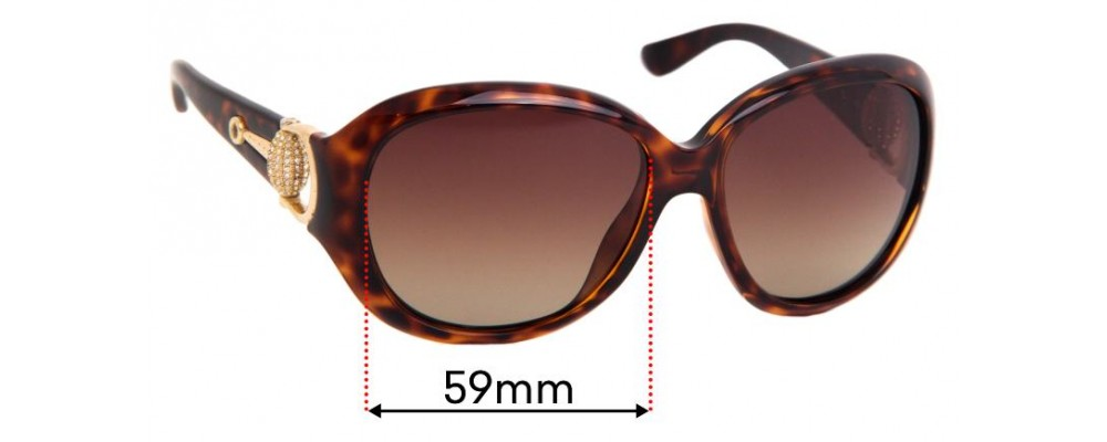 Sunglass Fix Replacement Lenses for Gucci GG3712/S - 59mm Wide