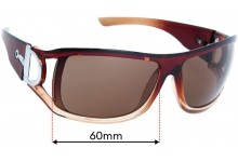Sunglass Fix Replacement Lenses for Gucci MOD SL8345 - 60mm Wide