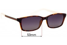 Sunglass Fix Replacement Lenses for Gucci Unknown Model - 53mm Wide