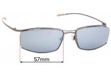 Sunglass Fix Replacement Lenses for Hiero SLG - 57mm Wide