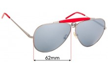 Sunglass Fix Sunglass Replacement Lenses for Iceberg IC51106 - 62mm Wide