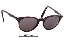 Sunglass Fix Sunglass Replacement Lenses for Kylie Minogue Sun Rx 01 - 49mm Wide