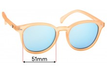 Sunglass Fix Sunglass Replacement Lenses for Le Specs Bandwagon - 51mm Wide