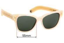 Sunglass Fix Sunglass Replacement Lenses for Lucy Folk Diving For Gold - 55mm