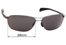 Sunglass Fix Sunglass Replacement Lenses for Maui Jim Kahului Harbor MJ325 - 68mm Wide