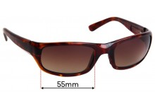 Sunglass Fix Sunglass Replacement Lenses for Maui Jim MJ103 Stingray - 55mm Wide