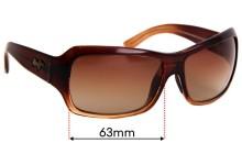 Sunglass Fix Sunglass Replacement Lenses for Maui Jim MJ111 Palms - 63mm Wide