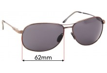 Sunglass Fix Sunglass Replacement Lenses for Maui Jim MJ117 Akoni - 62mm Wide