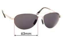 Sunglass Fix Sunglass Replacement Lenses for Maui Jim Pilot MJ210 - 63mm Wide