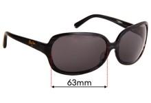 Sunglass Fix Sunglass Replacement Lenses for Maui Jim Rainbow Falls MJ225 - 63mm Wide
