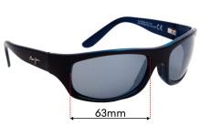 Sunglass Fix Sunglass Replacement Lenses for Maui Jim MJ261 Surf Rider - 63mm Wide