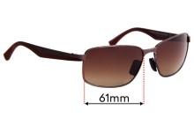 Sunglass Fix Sunglass Replacement Lenses for Maui Jim Backswing MJ709 - 61mm Wide