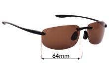 Sunglass Fix Sunglass Replacement Lenses for Maui Jim Ho'okipa MJ907 - 64mm Wide