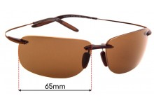 Sunglass Fix Sunglass Replacement Lenses for Maui Jim Olowalu 508 - 65mm Wide