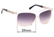 Sunglass Fix Sunglass Replacement Lenses for Michael Kors Benidorm MK6010 - 59mm Wide