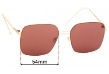 Sunglass Fix Sunglass Replacement Lenses for Mykita Lite Velma - 54mm