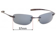 Sunglass Fix Sunglass Replacement Lenses for Nike Fly Wheel EVO114 - 57mm Wide