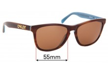 Sunglass Fix Sunglass Replacement Lenses for Oakley Frogskins LX OO2043 - 55mm Wide