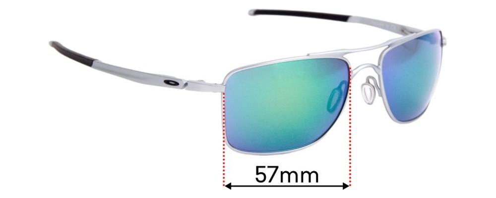 Sunglass Fix Sunglass Replacement Lenses for Oakley Gauge 8 OO4124 - 57mm Wide x 41.5mm Tall