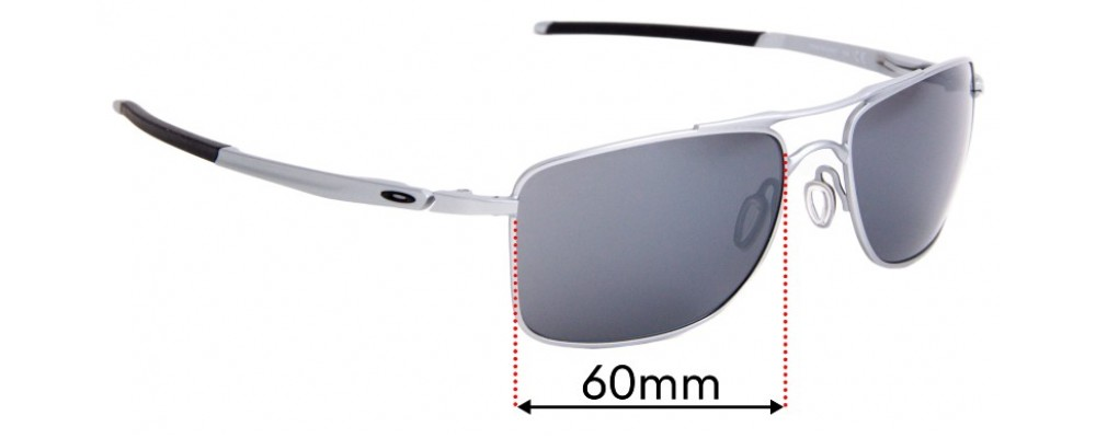 Sunglass Fix Sunglass Replacement Lenses for Oakley Gauge 8 OO4124 - 62mm Wide x 45.5mm Tall