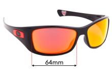 Sunglass Fix Sunglass Replacement Lenses for Oakley Hijinx Ducati OO9021 - 64mm Wide