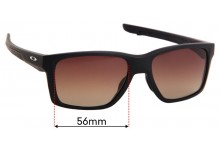 Sunglass Fix Sunglass Replacement Lenses for Oakley Mainlink OX8128 - 56mm Wide