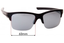 Sunglass Fix Sunglass Replacement Lenses for Oakley Thinlink OO9316 - 63mm Wide