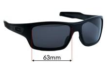 Sunglass Fix Sunglass Replacement Lenses for Oakley Turbine OO9263 - 63mm Wide